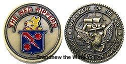"""画像1: VFA-11 """"Red Rippers"""" チャレンジコイン"""