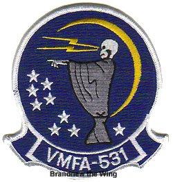"""画像1: VMFA-531 """"Gray Ghosts"""" スコードロンパッチ"""