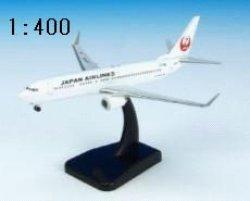 画像1: JALUX (hogan製) 1/400 B737-800W JAL
