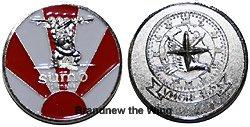 """画像1: VMGR-152 """"Sumo"""" チャレンジコイン"""