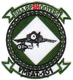 """画像1: VMFAT-101 """"Sharpshooters"""" スコードロンパッチ"""