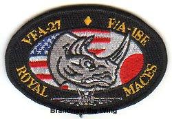 """画像1: VFA-27 """"Royal Maces"""" 肩パッチ"""