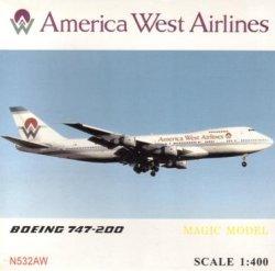画像1: B747-200 アメリカンウエスト航空 N531AW