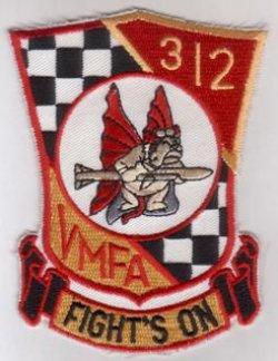 """画像1: VMFA-312 """"Checkerbords"""" スコードロンパッチ"""