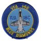 "VFA-146 ""Blue Diamonds"" 肩丸パッチ"